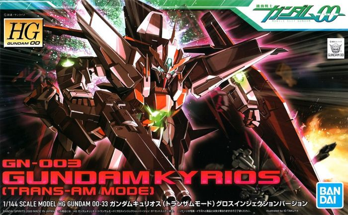 High Grade Gundam Kyrios Trans-Am Mode Box