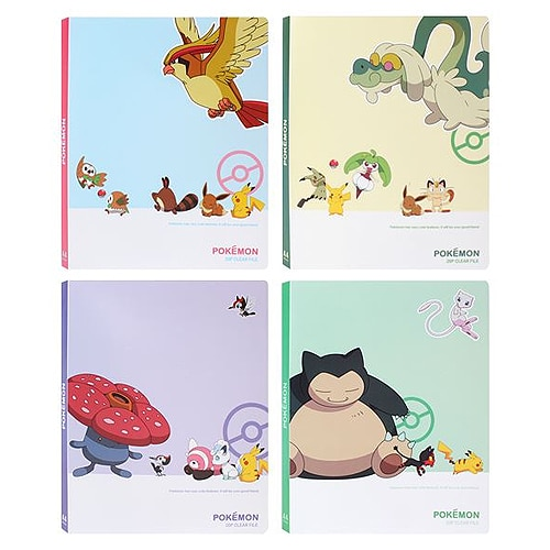 Pokemon Folder Binder with 20 Transparent Sheets Pose 1