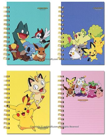 Pokemon Wirebound Ruled Notebook Pose 1