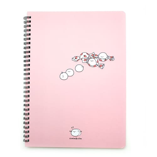 Convenience Store Ivory Notebook Pink
