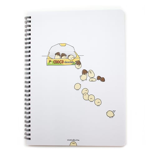Convenience Store Ivory Notebook White
