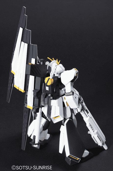 High Grade Nu Gundam Heavy Weapons System Pose 2