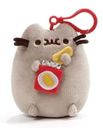 Pusheen Chips Plush with Clip Pose 1