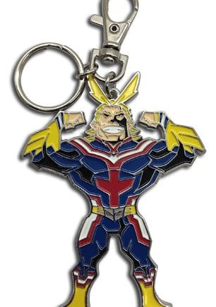 SD All Might Metal Keychain Pose 1
