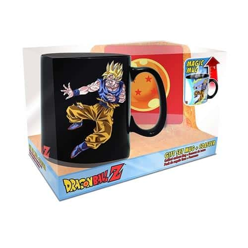 Goku vs Kid Buu Magic Mug & Coaster Gift Set Box