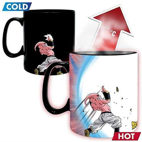 Goku vs Kid Buu Magic Mug & Coaster Gift Set Pose 2