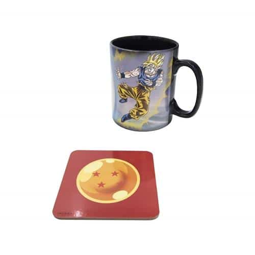 Goku vs Kid Buu Magic Mug & Coaster Gift Set Pose 4