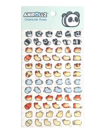 Anirollz Stickers Set - Character Poses Pose 1