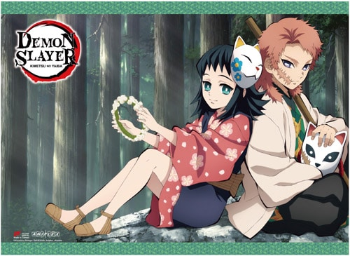 Demon Slayer Sabito & Makomo Wall Scroll Pose 1