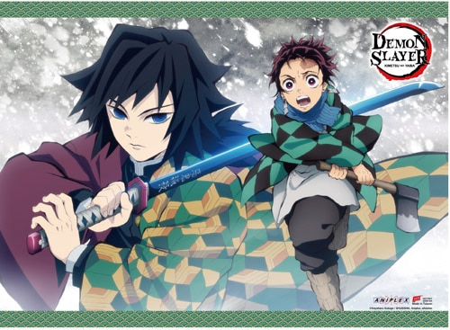 Demon Slayer: Tanjirou & Giyu Wall Scroll Pose 1