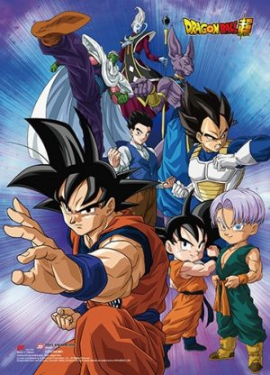 Battle of the Gods Group 8 Wall Scroll Pose 1
