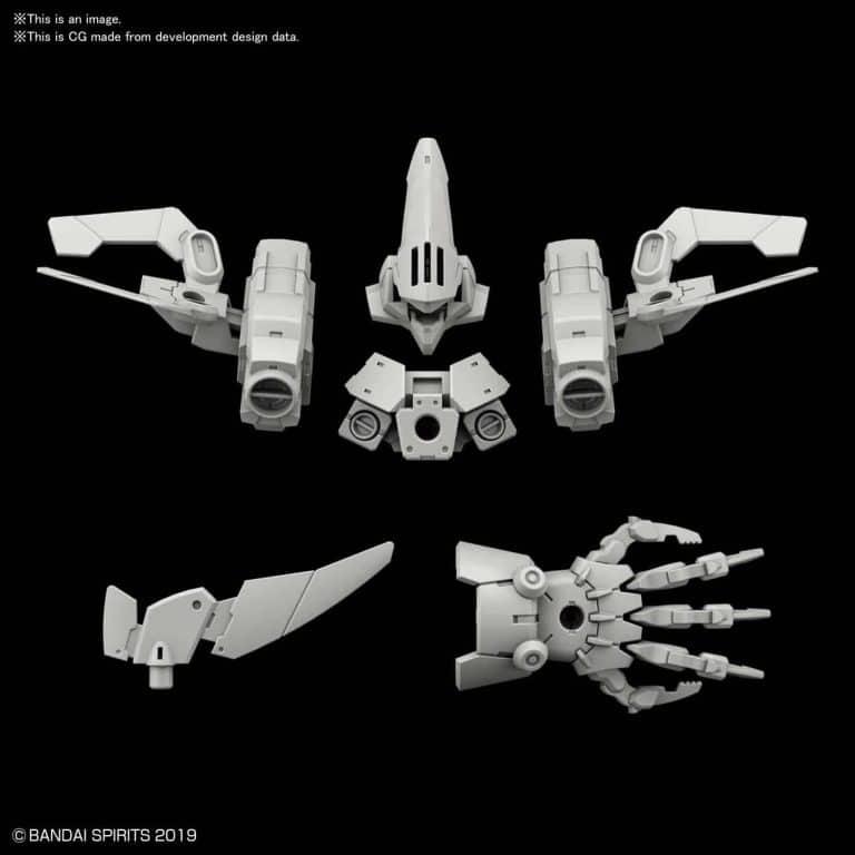 Cielnova Light Gray Option Armor for Defense Operations Pose 1