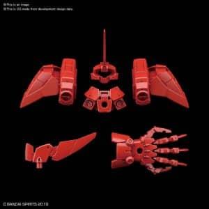 Cielnova Red Option Armor for Defense Operations Pose 1