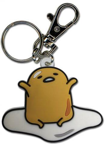 Gudetama PVC Keychain Version 2 Pose 1