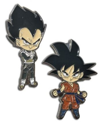 Goku & Vegeta Pin Set Pose 1