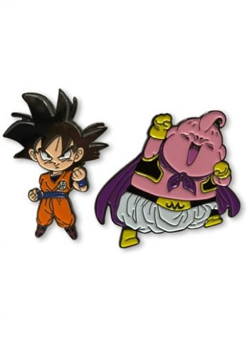 Goku & Majin Buu Pin Set Pose 1
