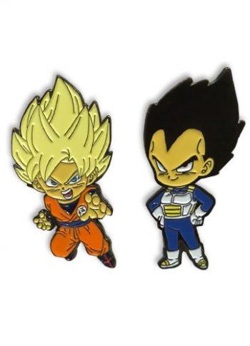 Super Saiyan Goku & Vegeta Pin Set Pose 1