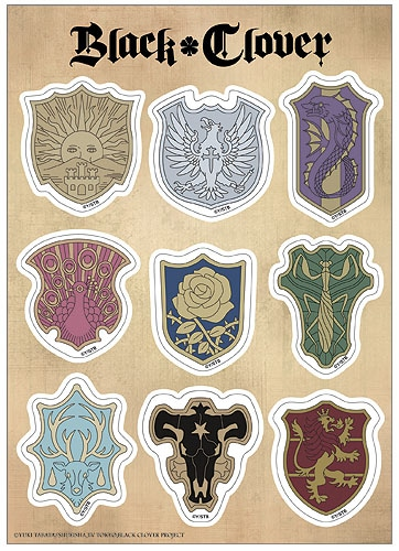 Black Clover Symbols Sticker Set Pose 1