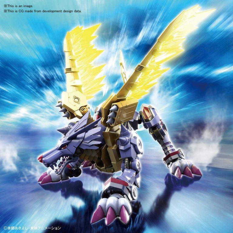 Metal Garurumon Amplified Figure Rise Kit Pose 1