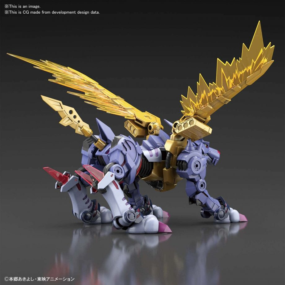 Metal Garurumon Amplified Figure Rise Kit Pose 2