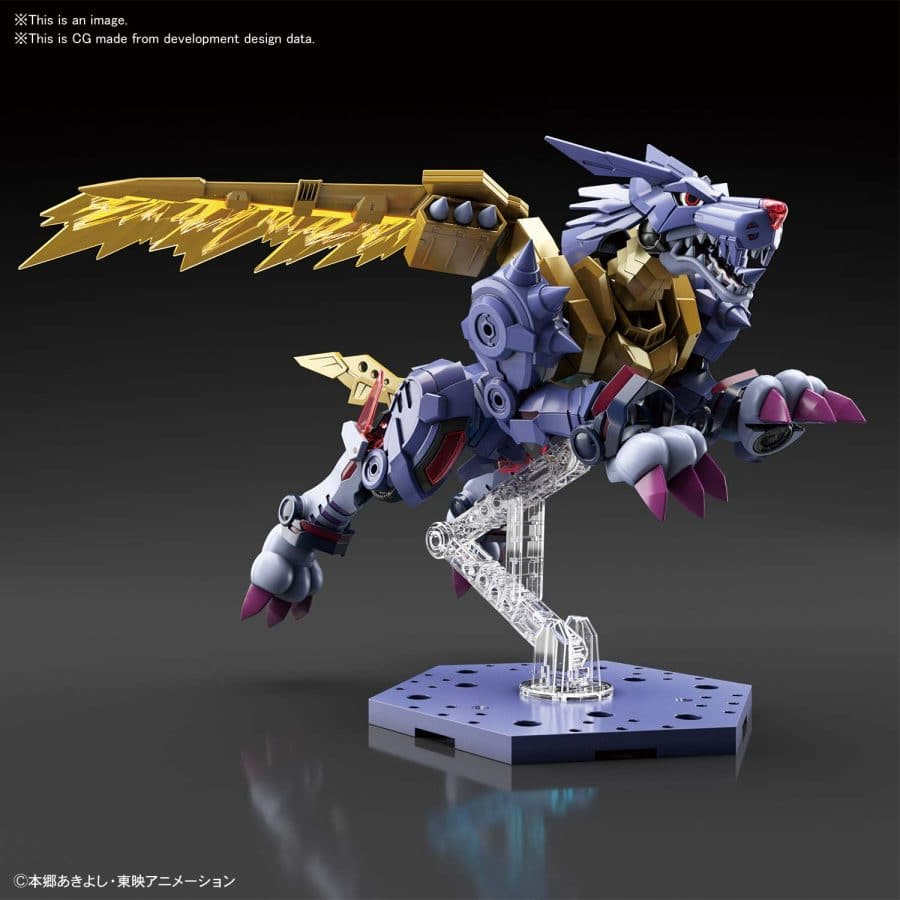 Metal Garurumon Amplified Figure Rise Kit Pose 3