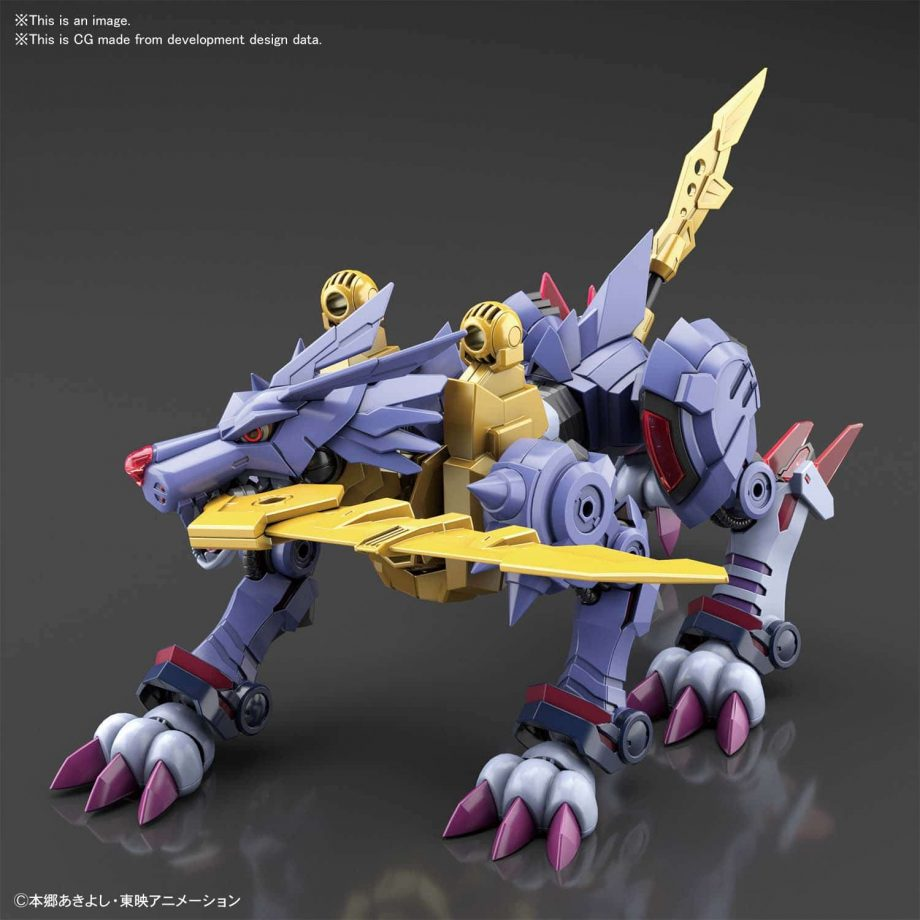 Metal Garurumon Amplified Figure Rise Kit Pose 8