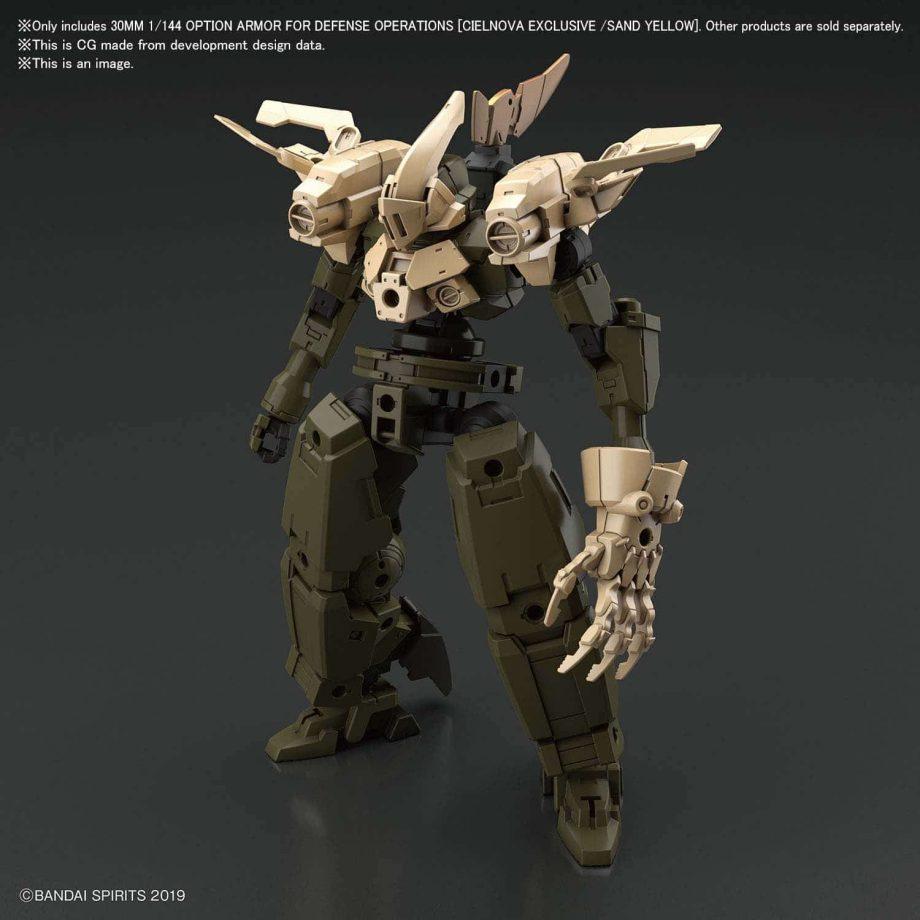 Cielnova Sandy Yellow Option Armor for Defense Operations Pose 2