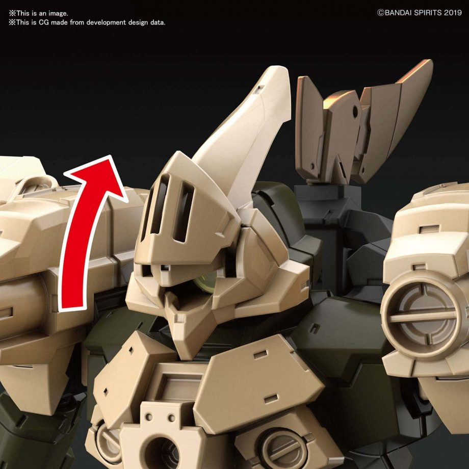 Cielnova Sandy Yellow Option Armor for Defense Operations Pose 3