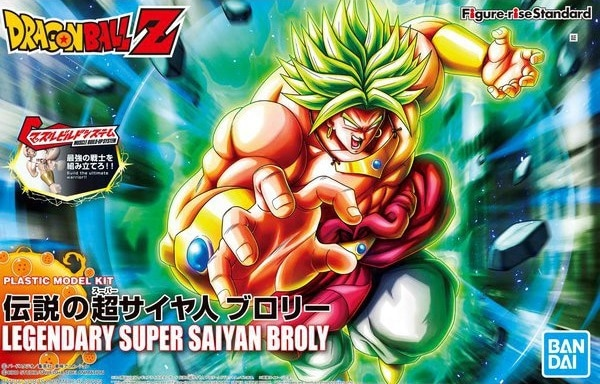 Super Saiyan Broly Figure Rise Standard Model Kit New Package Version Box