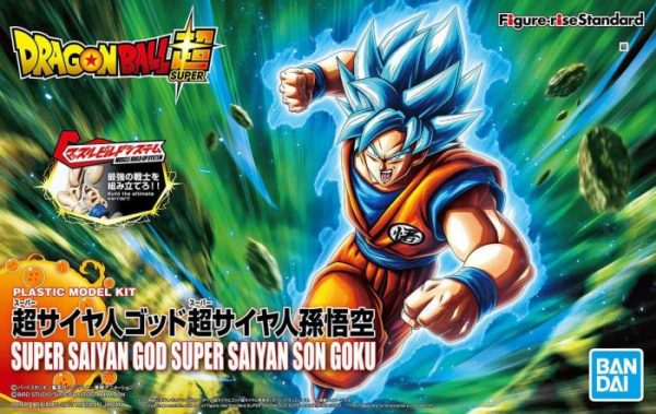 Super Saiyan Blue Goku Figure-Rise Standard Model Kit Package Renewal Version Box