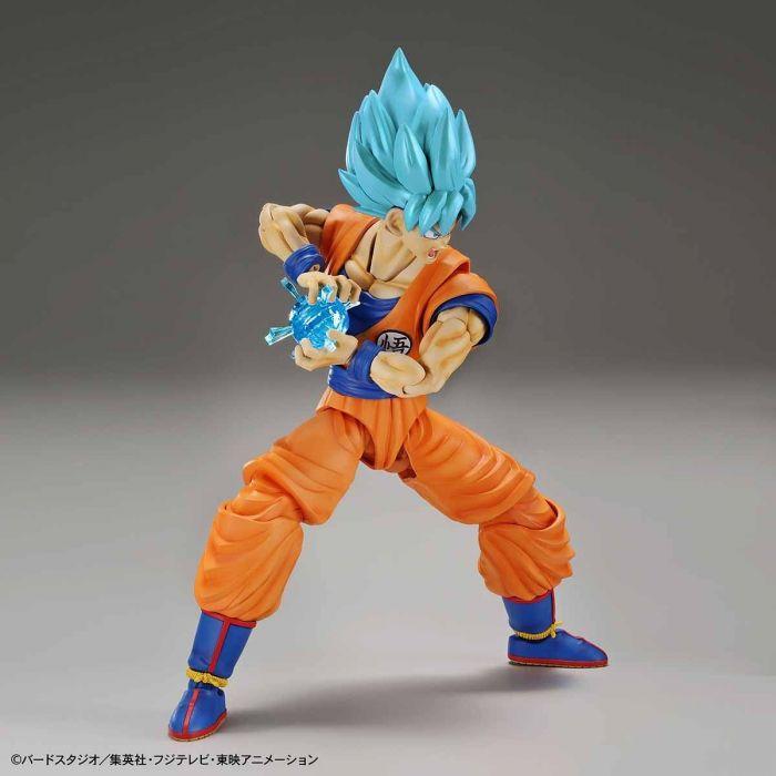 Super Saiyan Blue Goku Figure-Rise Standard Model Kit Package Renewal Version Pose 3