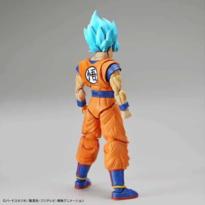 Super Saiyan Blue Goku Figure-Rise Standard Model Kit Package Renewal Version Pose 2