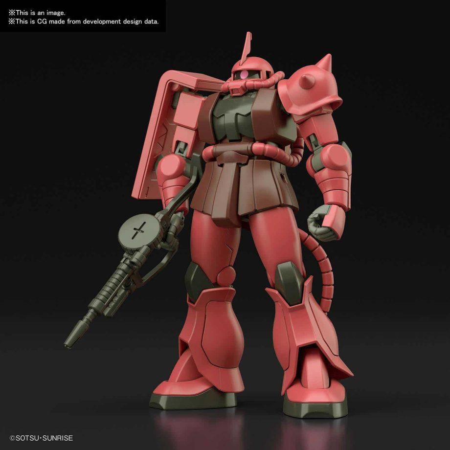 1/144 High Grade MS-06S Zaku II Pose 1