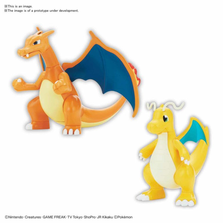 Charizard & Dragonite Model Kit Pose 1