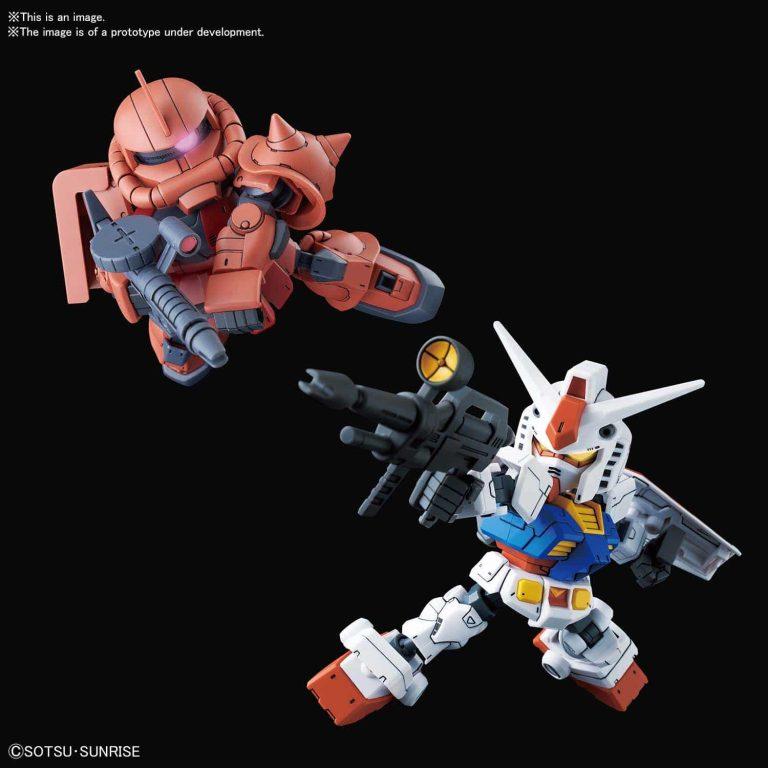 SDCS RX-78-2 Gundam & MS-06S Zaku II Pose 1