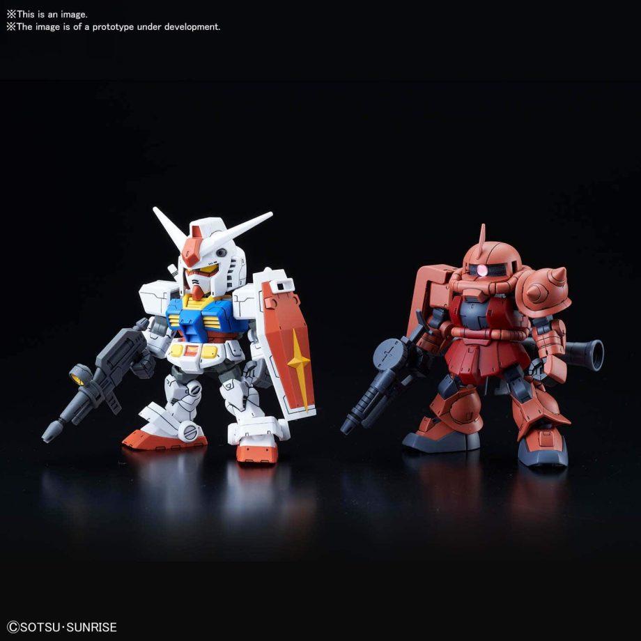 SDCS RX-78-2 Gundam & MS-06S Zaku II Pose 2