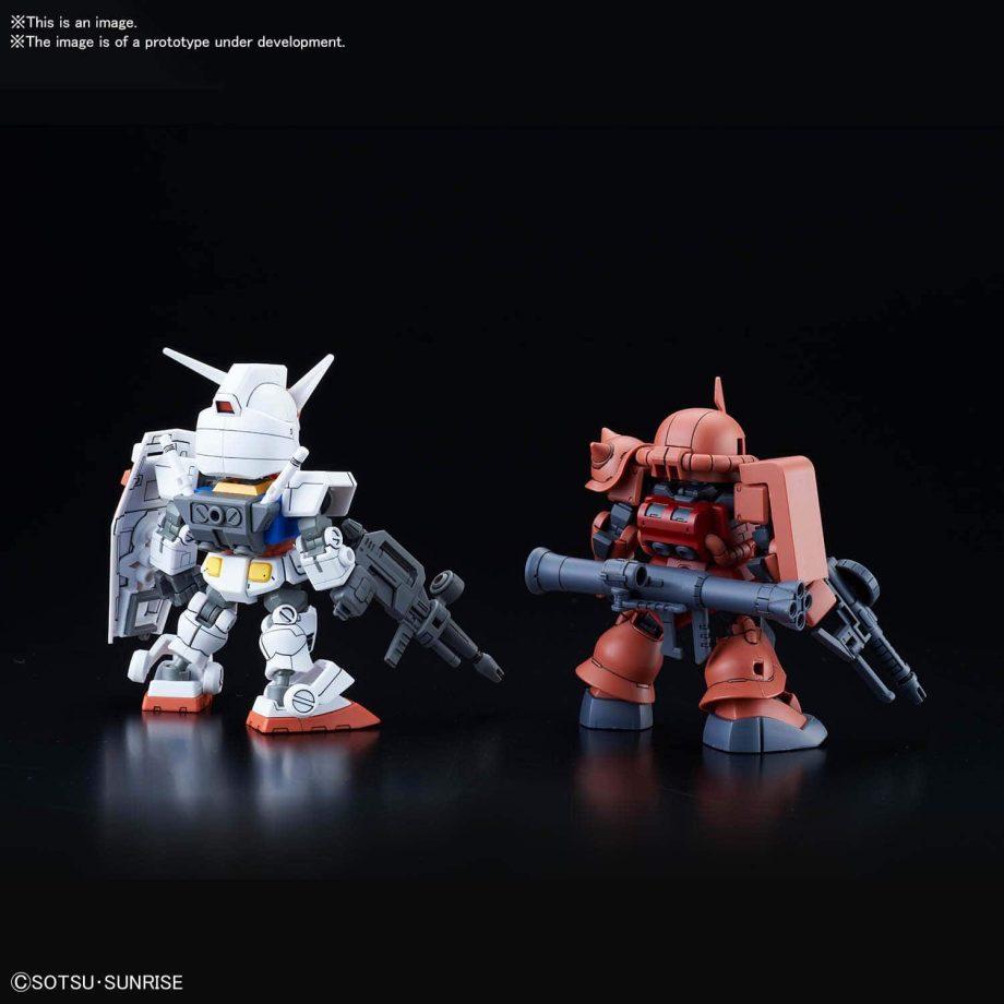 SDCS RX-78-2 Gundam & MS-06S Zaku II Pose 3