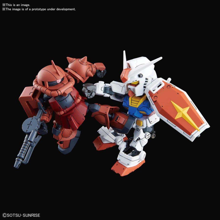 SDCS RX-78-2 Gundam & MS-06S Zaku II Pose 4