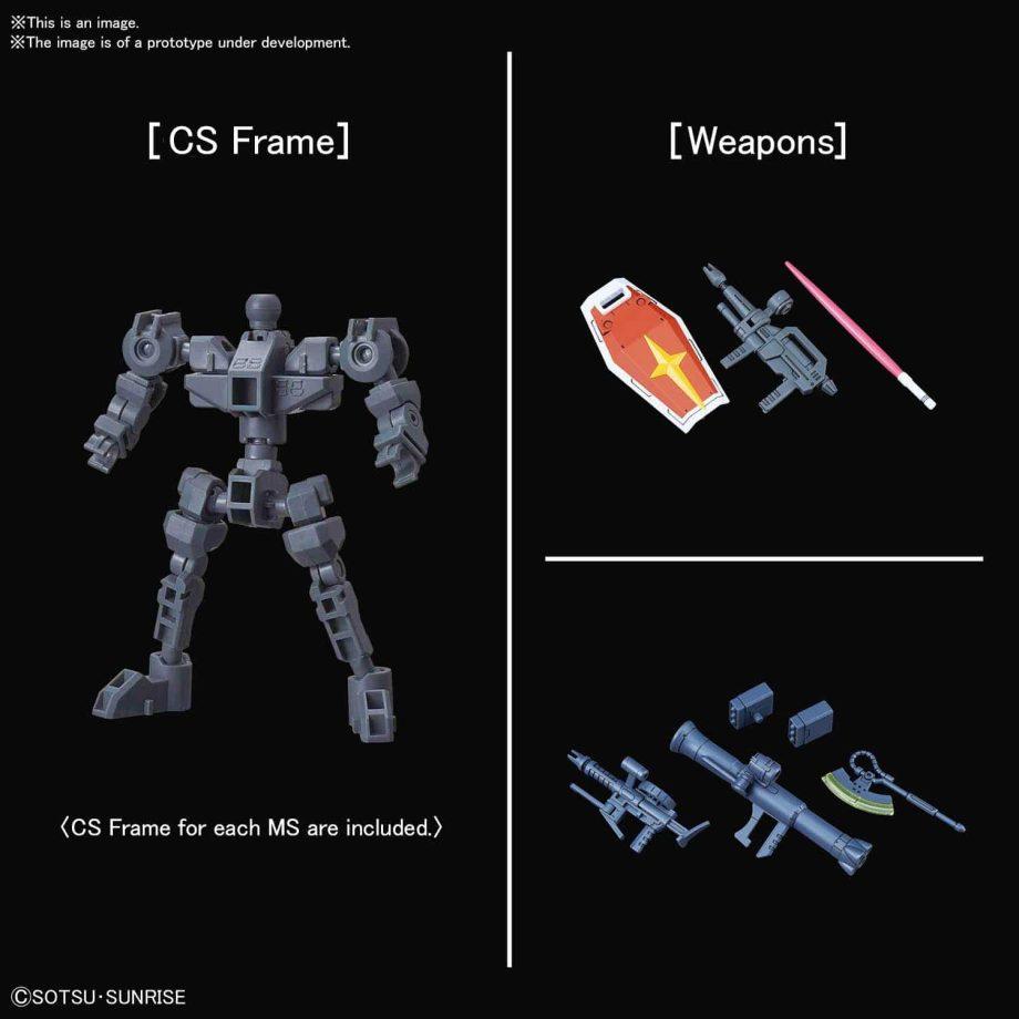 SDCS RX-78-2 Gundam & MS-06S Zaku II Pose 5