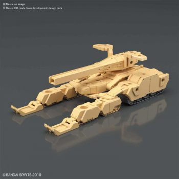 Extended Armament Vehicle Tank Brown Pose 1