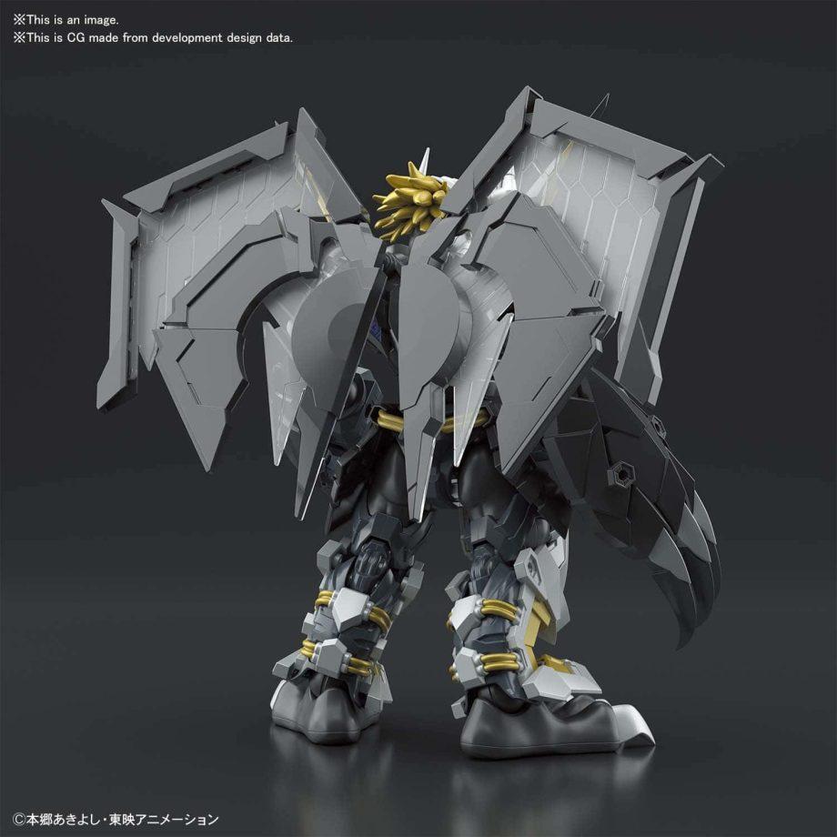 Black Wargreymon Amplified Figure Rise Kit Pose 3