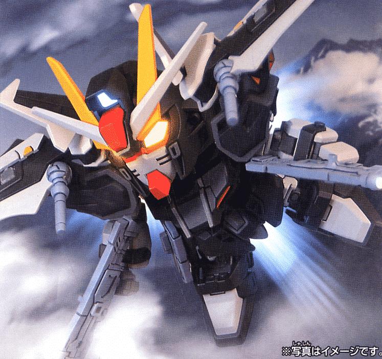 Gundam BB: Strike Noir Gundam Pose 1