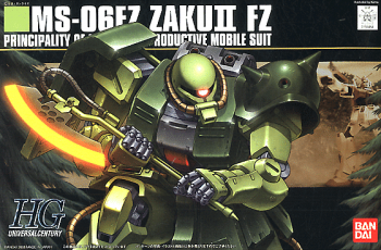 High Grade MS-06FZ Zaku II FZ Box