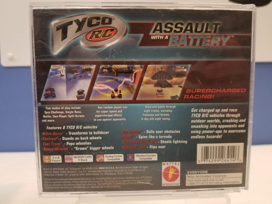 Tyco RC Assault With A Battery Back