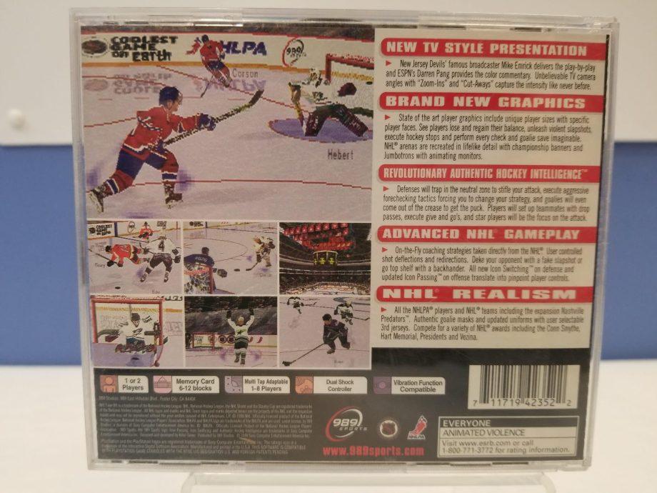 NHL FaceOff '99 Back