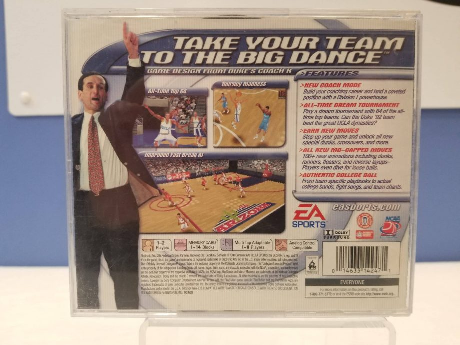 NCAA March Madness 2001 Back