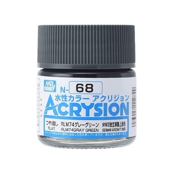 Mr. Color Acrysion Semi Gloss RLM74 Gray Green N68