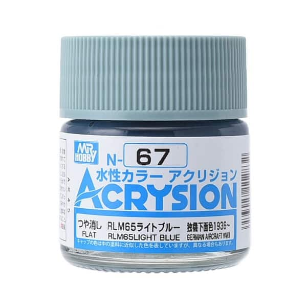 Mr. Color Acrysion Semi Gloss RLM65 Light Blue N67