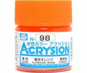 Mr. Color Acrysion Semi Gloss Fluorescent Orange N98
