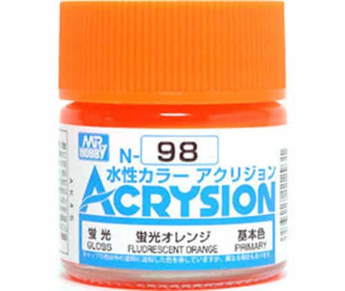 Mr. Color Acrysion Semi Gloss Fluorescent Orange N98
